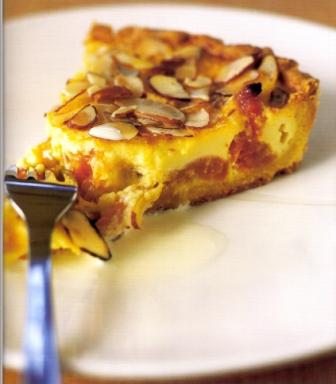 Apricot and Baked Custard Tart
