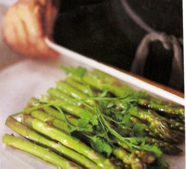 Baked Asparagus with Parsley and Caper Mayonnaise