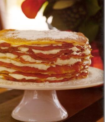 Apricot and Lemon Crepe Cake
