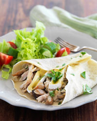 Galettes with Chicken, Mushroom and Camembert